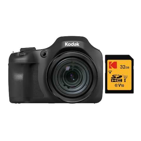 Kodak PIXPRO Astro Zoom AZ652 20MP Digital Camera (Black) Bundle