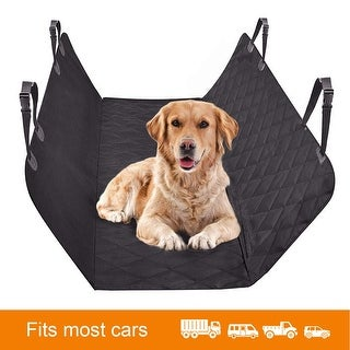 Dog Car Seat Cover Pet Car Mat Waterproof Scratch Proof Nonslip Dog Seat Cover - black