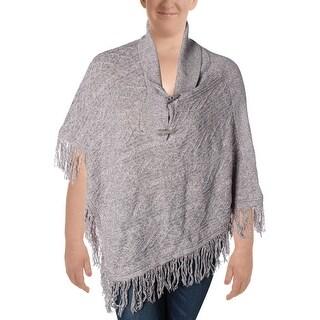 Karen Scott Womens Cape Sweater Marled Shawl Neck - L/XL