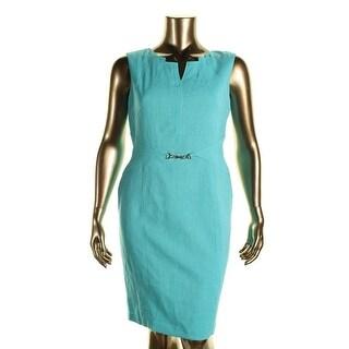 Ellen Tracy Womens Sleeveless Sheath Wear to Work Dress - 12