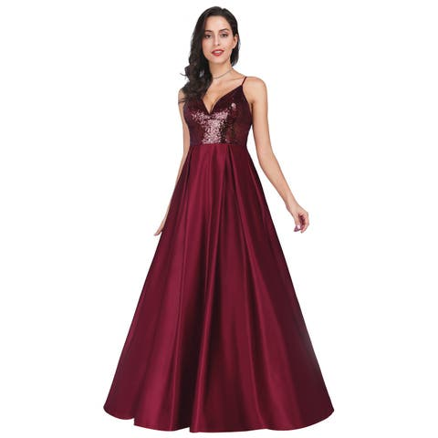 Ever-Pretty Women's Sequin Satin Evening Prom Party Homecoming Dress 07859