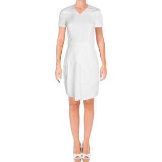 BOSS Hugo Boss Womens Dylena Wear to Work Dress Belted V-Neck