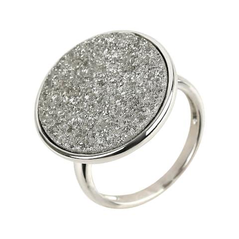925 Sterling Silver Drusy Ring