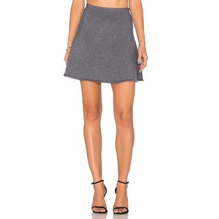 Theory Lotamee Micro Marled Knit Frayed Hem Skirt - S