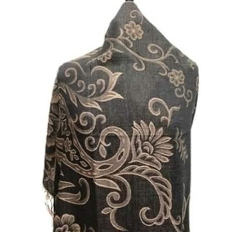 Womens Silky Winter Fashion Scarfs Handmade Warm Large Scarves Lightweight Floral Print Viscose Scarve