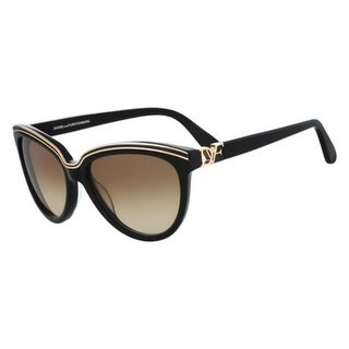 Diane Von Furstenberg Womens Mila Cat Eye Sunglasses Gold Contrast Fashion - Black - o/s
