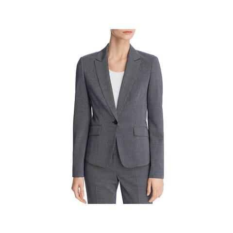 BOSS Hugo Boss Womens Janore One-Button Blazer Wool Suit Separate