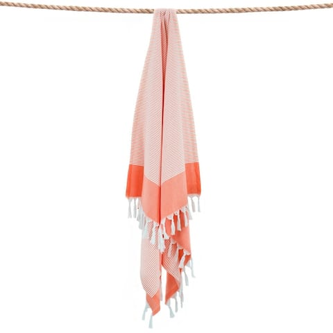 Authentic Hotel and Spa 100% Turkish Aegean Cotton Elegant Thin Stripe Pestemal Beach Towel