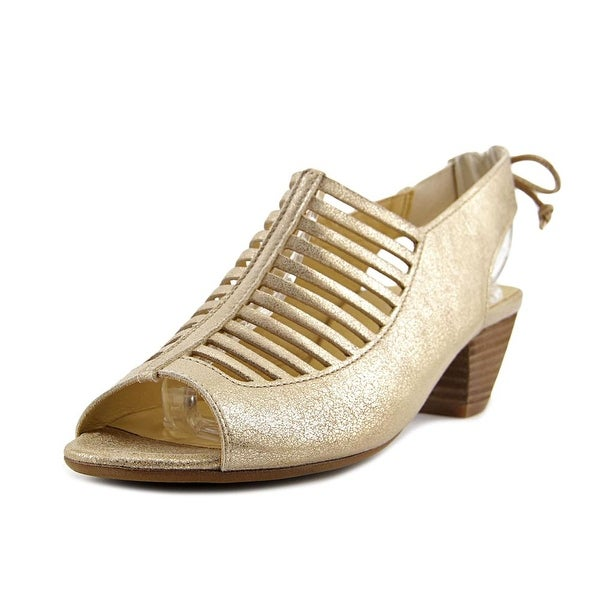 Paul Green Sabbia Women Open Toe Synthetic Gold Sandals