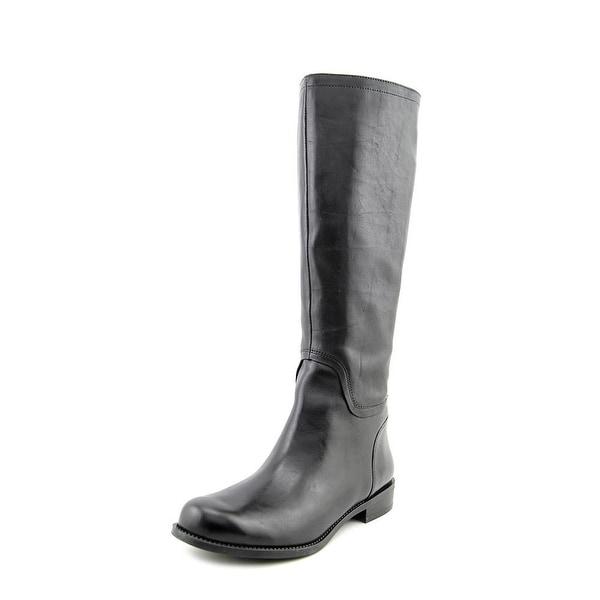 Nine West Contigua Women  Round Toe Leather Black Knee High Boot