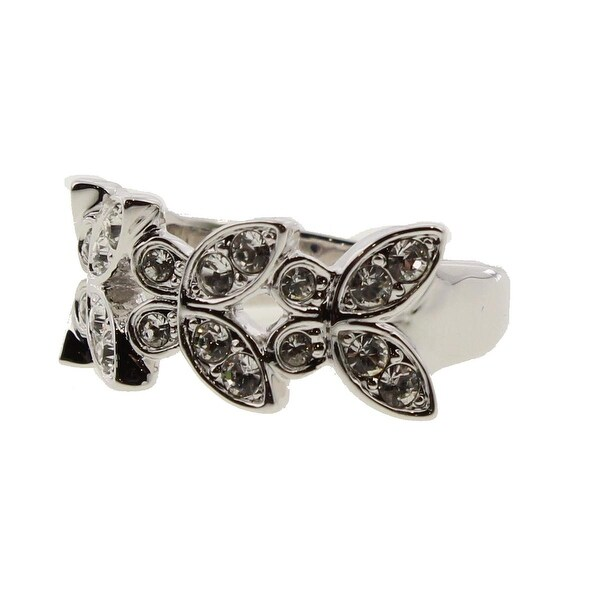 Swarovski Womens Right-Hand Ring Crystal Fashion - Silver