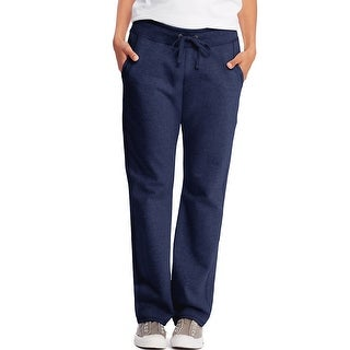 Hanes Women's French Terry Pocket Pant - Size - L - Color - Navy