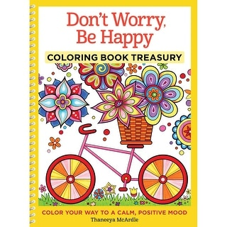 Design Originals-Don't Worry, Be Happy Coloring Book