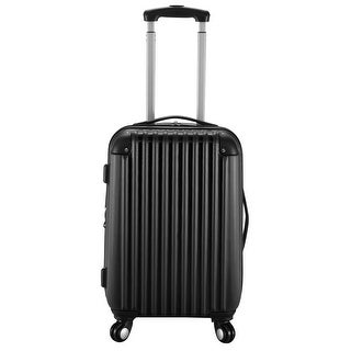 GLOBALWAY 20'' Expandable ABS Carry On Luggage Travel Bag Trolley Suitcase