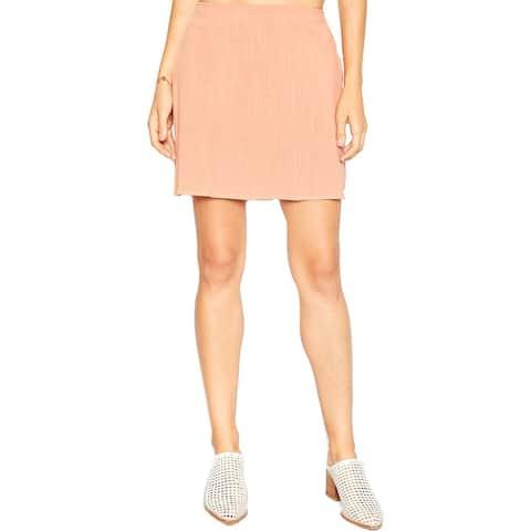 Sadie & Sage Linen-Blend Mini Skirt