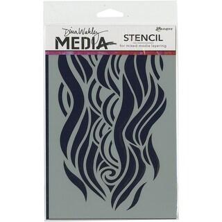 """Dina Wakley Media Stencils 9""""X6""""-Mighty Wave"""