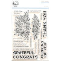 "Pinkfresh Studio Clear Stamp Set 4""X6""-Bloom"