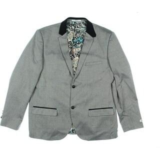 WDNY Mens Herringbone Corduroy Collar Sportcoat - XL