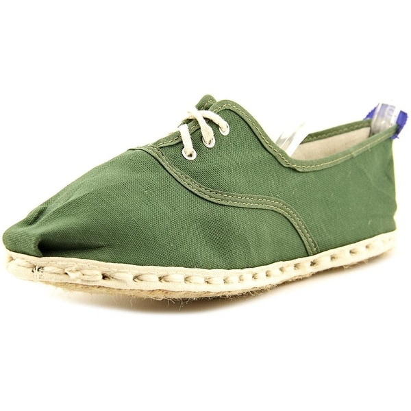 Industry of All Nations Sport Espadrille Men Round Toe Canvas Green Espadrille
