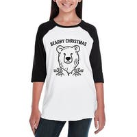 Bearry Christmas Bear White Pet Shirt For Small Pet Holiday Outfit