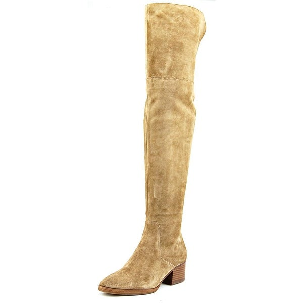 10337f19ca8 Shop Via Spiga Ophira Women Round Toe Suede Tan Over the Knee Boot ...