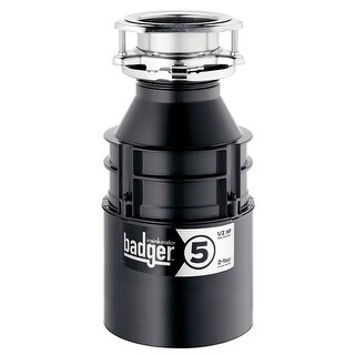 InSinkErator BADGER-5 Continuous Feed Food Waste Garbage Disposal, 1/2 HP