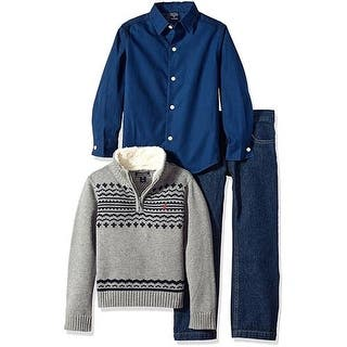 Nautica Boys 2T-4T 3-Piece Fair Isle Sherpa Sweater Pant Set|https://ak1.ostkcdn.com/images/products/is/images/direct/7d3a148f3c71b860e2e51b224f348f776db074e6/Nautica-Boys-2T-4T-3-Piece-Fair-Isle-Sherpa-Sweater-Pant-Set.jpg?impolicy=medium