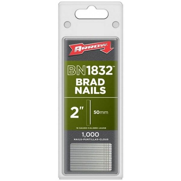 """Arrow Fastener BN1832CS Steel Brad Nails, 18-Gauge, 2"""", 1000-Pack"""