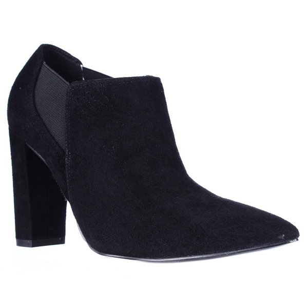 Marc Fisher Hydra Pointed Toe Block Heel Dress Ankle Boots, Black Multi