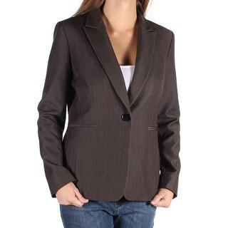 Womens Brown Wear To Work Blazer Jacket Size 6