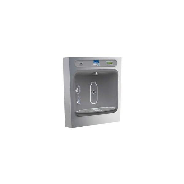 Elkay LZWSSM EZH2O Surface Mount Bottle Filling Station with Hands Free  Operation, Filter, and Glass Filler - Stainless Steel