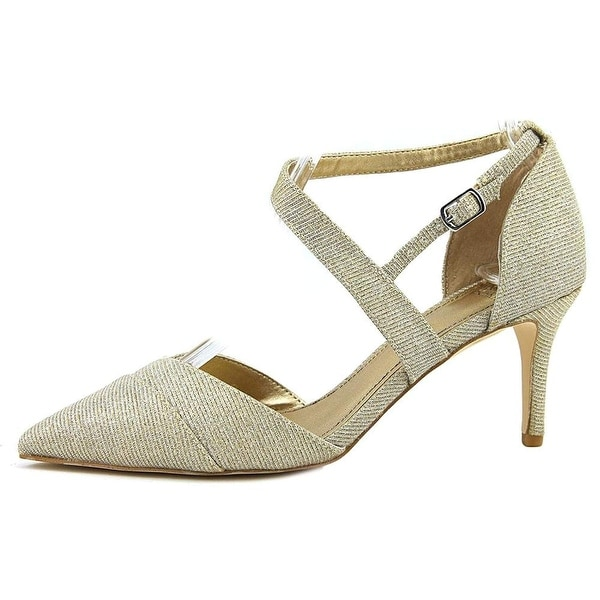 BADGLEY MISCHKA Womens Elayna Pointed Toe Ankle Strap Classic Pumps - 9
