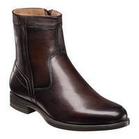 Florsheim Men's Midtown Plain Toe Zip Boot Brown Smooth Leather