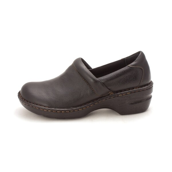 Born Womens Margaret Leather Almond Toe Clogs
