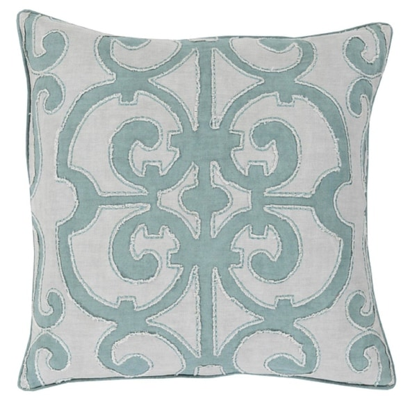 "18"" Princess Dreams In Shades of Cool Gray Decorative Throw Pillow - Down Filler"