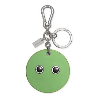 Coach Womens Googly Emoji Fashion Keychain Leather Bag - o/s