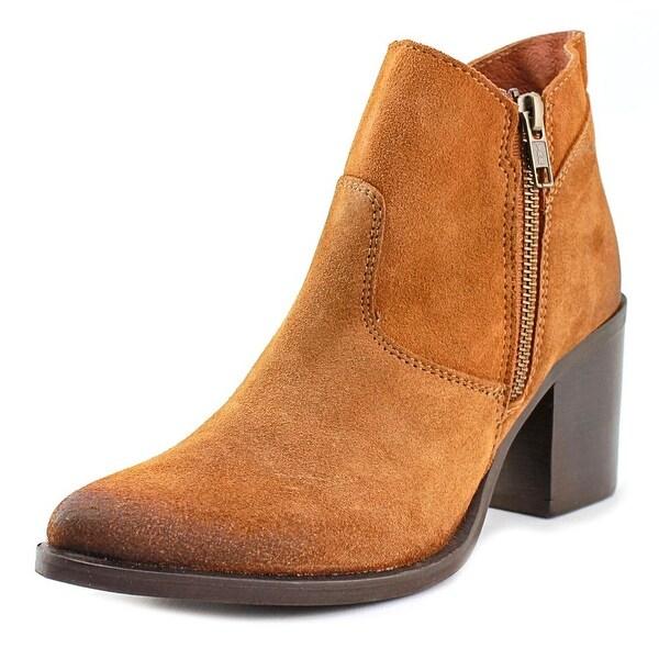 Steve Madden Pierce Women Round Toe Suede Brown Ankle Boot