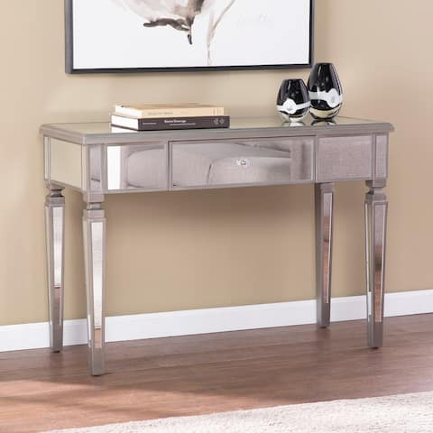 Silver Orchid Wacasey Glam Mirror Console Table