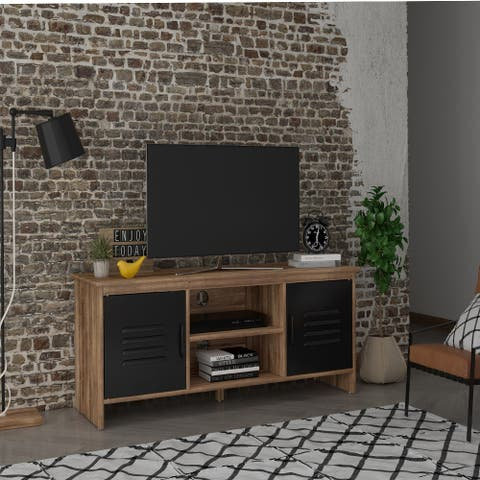 Modern Farmhouse 2 Door TV Stand for Living oom