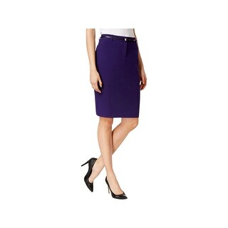 Calvin Klein Womens Petites Pencil Skirt Belted Single Vent (2 options available)