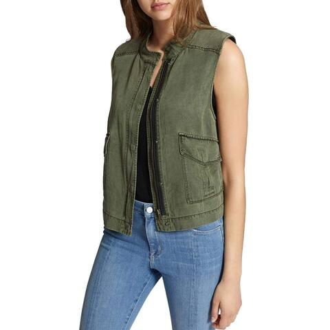 Sanctuary Green Women's Size XS Treker Utility Vest Jacket