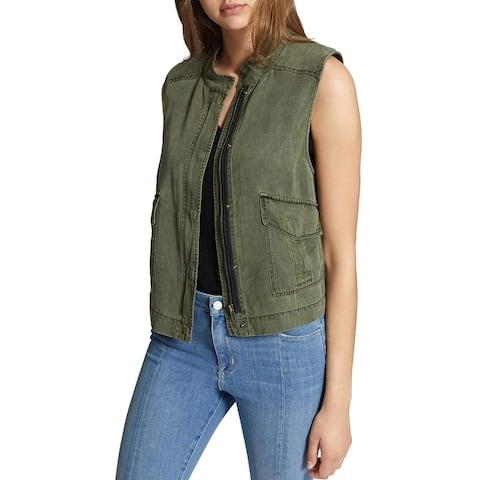 Sanctuary Green Womens Size Small S Treker Utility Sleeveless Vest