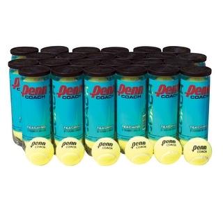 Penn Coach Practice Tennis Balls, Case of  72 Balls, 24 cans, 3 Balls per Can