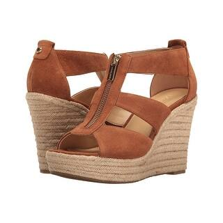 aded1d53338 Quick View.  74.25. Michael Kors Womens Damita Wedge Leather Open Toe  Casual Platform Sandals