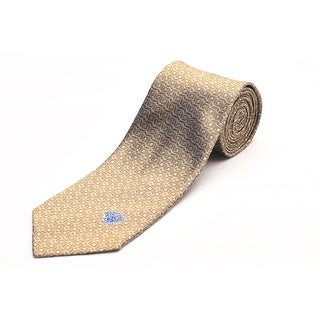 Versace Men's Medusa Head Slim Silk Neck Tie Gold