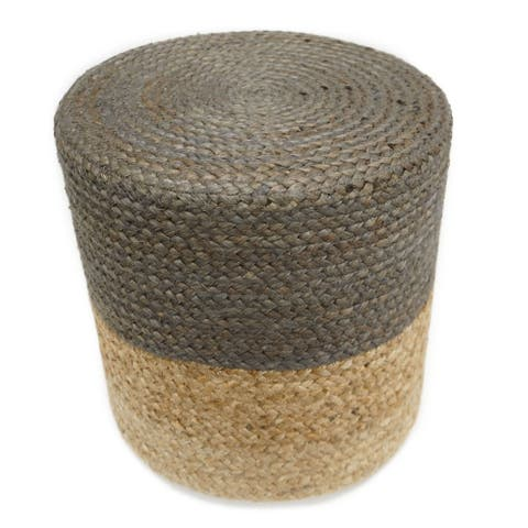 The Curated Nomad Hayward Cylinder Jute Pouf
