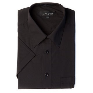 Marquis Men's Short Sleeve Solid Dress Shirt
