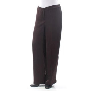 Womens Brown Wear To Work Pants Size 10