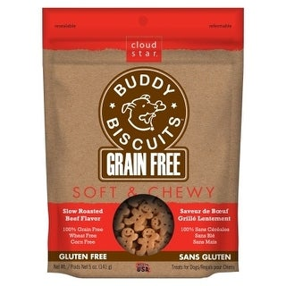 Cloud Star Soft & Chewy Grain Free Slow Roasted Beef Treats 5oz