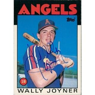 Signed Joyner Wally California Angels 1986 Topps Baseball Card autographed